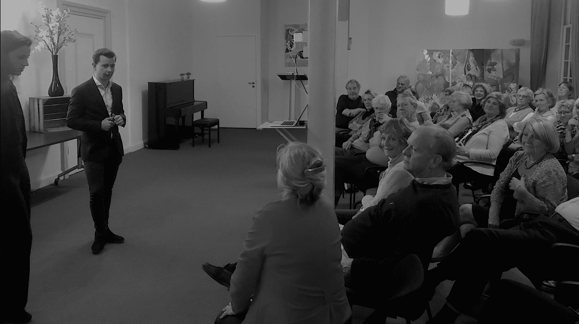 COREKEES SPEAKER AT ONE OF NETHERLANDS' ELDEST GENTLEMEN SOCIETIES
