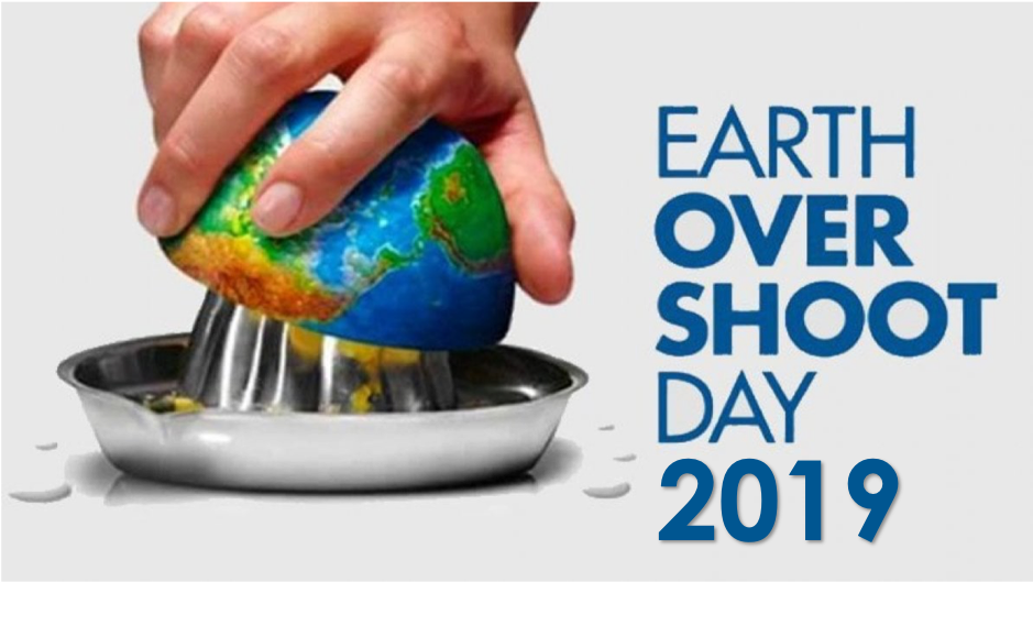 JULY 29TH – EARTH OVERSHOOT DAY 2019